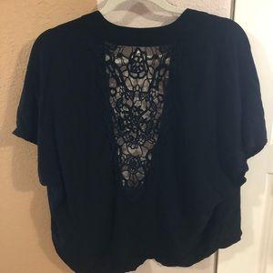 Black Short Kimono
